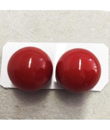 Coppia sfere corallo rosso
